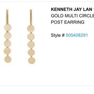 Kenneth Jay Lane Long disc earrings
